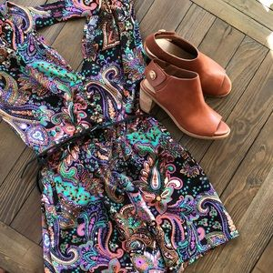 Material girl super colorful and cute romper